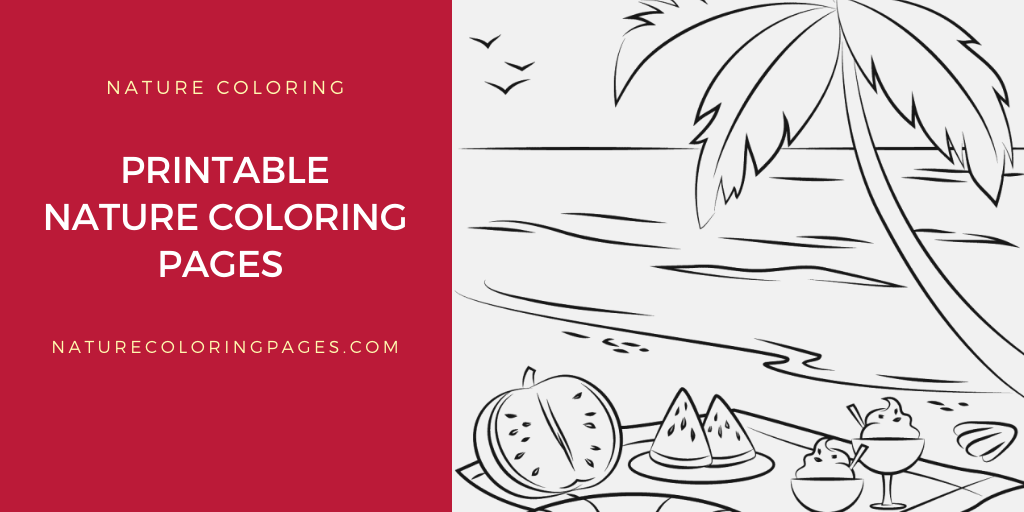 27 Printable Nature Coloring Pages For Your Little Ones | 512x1024